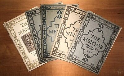 LOT OF 5 VINTAGE THE MENTOR A WISE GUIDE MAGAZINE 1916 No. 2, 5, 6, 7, 8 Vol. 4
