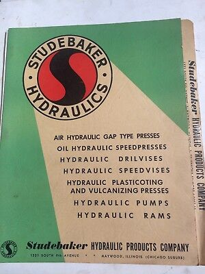 Studebaker vise and tool catalog folder