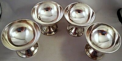 Four Solid WATSON CO. 200gr STERLING SILVER SHERBETS NR