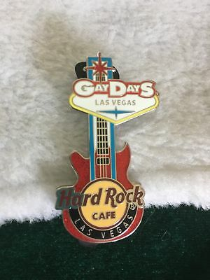 Hard Rock Cafe Pin Las Vegas ~ Gay Days Event ~ Welcome to Las Vegas Sign Guitar