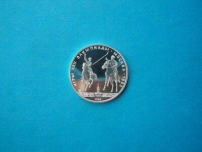 "Russian Coins 1980 Year 5 ""olympic"" Rubles Nice Silver Coin."
