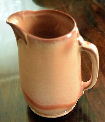 Vintage FRANKOMA Pottery Pitcher Fawn Brown EXCELLENT with Sticker