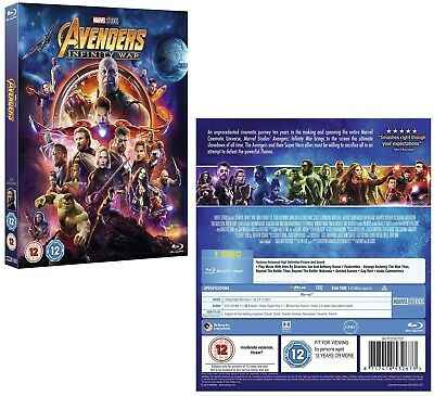 MARVEL'S AVENGERS 3 (2018) 'INFINITY WAR': Region Free 2D BLU-RAY NEW - Action