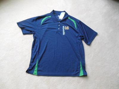 NWT NEW NOTRE DAME Mens Polo Shirt Sz 2XL XXL MUST SEE!!  AWESOME! WOW