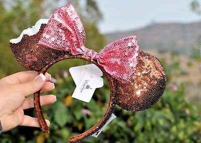 Disney Parks Minnie Mouse Ice Cream Bar Ears W/ Pink Bow Nwt