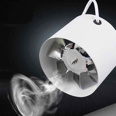"""PRO 4"""" Inch Inline Duct Fan Booster Exhaust Blower Air Cooling Vent Durable 25W"""