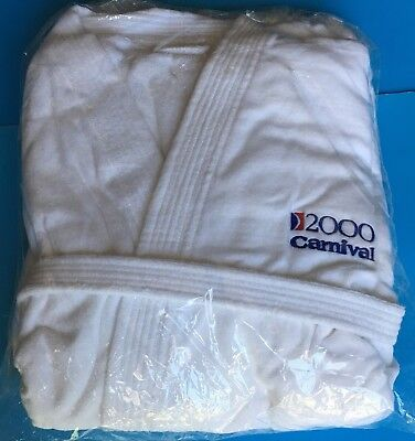 2000 CARNIVAL MILLENNIUM CRUISES New Robe + Bag 100% Cotton Made in Turkey