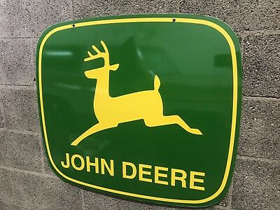Vintage John Deer 1970s Large Double Sided Sign.