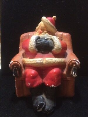 vintage chalkware santa bank Sleeping Chair Antique
