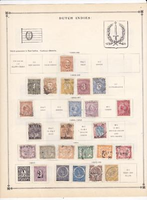 From A 1939 Scott Int'l - Small Used Dutch Indies Collection On 2 Pages - SEE!!!