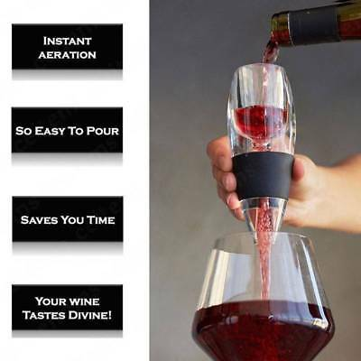 New Decanter Essential Red Wine Portable Aerator Sediment Filter Pouch AU