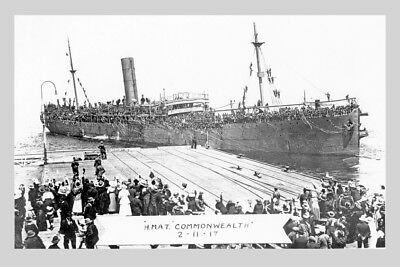 COMMONWEALTH 1917 as Australian Troopship HMAT A73 modern digital Photo Postcard