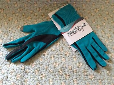 New Isotoner Smartouch Gloves 1 Size Baltic Color Touchscreen Friendly