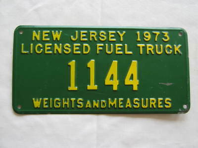 1973 New Jersey Fuel Truck  License Plate