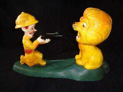 VINTAGE 60's Sir Reginald Play-N-Save Mechanical Shooting Bank by Mascon Toy Co.