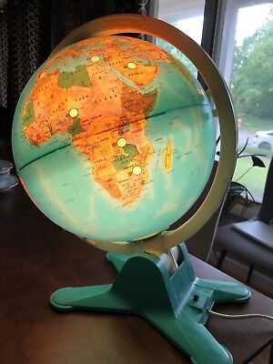 Globe Lit Up View Finder Vintage Fisher Price 1988 Educational Illuminated
