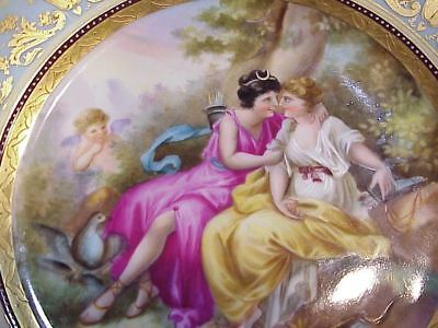 Artist Signed Royal Vienna Plate Heavy Gold Allegorical scene Tupiter + Calista