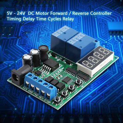 5V - 24V Motor Forward / Reverse Controller Timing Delay Time Cycles Relay UK
