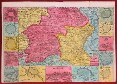 Brabant Belgium 1747 Paul De La Feuille Antique Original Copper Engraved Map