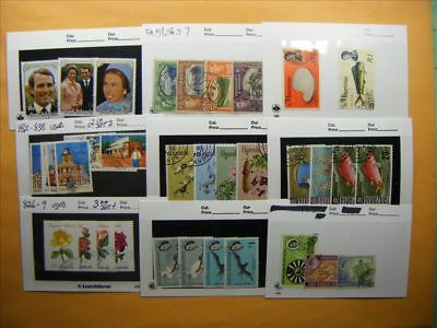 3370 Br. Commonwealth Lot of 9 Used Stamp Packs