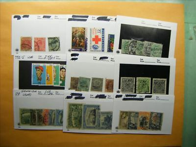 3375 Br. Commonwealth Lot of 9 Used Stamp Packs