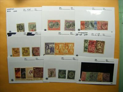 3378 Br. Commonwealth Lot of 9 Used Stamp Packs