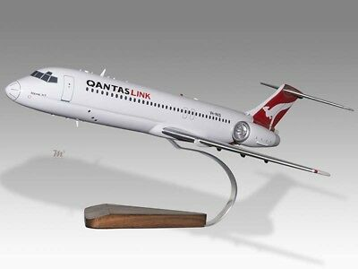 Boeing 717 Volotea Airlines Solid Dried Mahogany Wood Handmade Desktop Model Transportation Collectables