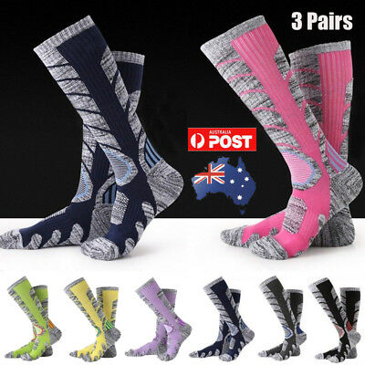 3 Pairs Thick Thermal Long Sock Sports Snow Hiking Camp Warm Outdoor Men Women
