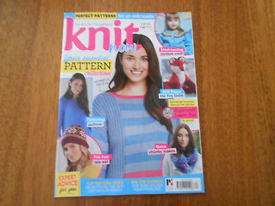 Knit Now Magazine - Issue 82 - Uk's N0. 1 For Patterns - Good Condition -