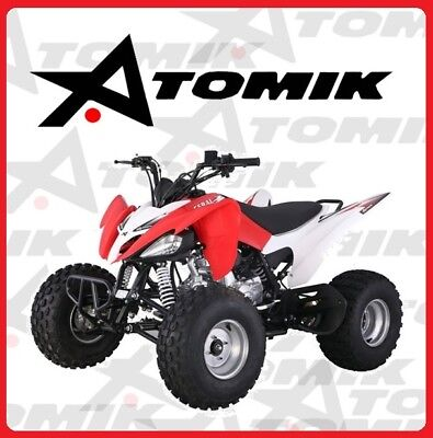 New Atomik Feral 125Cc Atv Quad Dirt Bike 4 Wheeler Trail Motorcross Terrian Mx