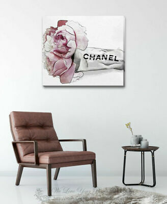 Flower Chanel Stretched Canvas Print Framed Wall Art Home Office Shop Decor F110