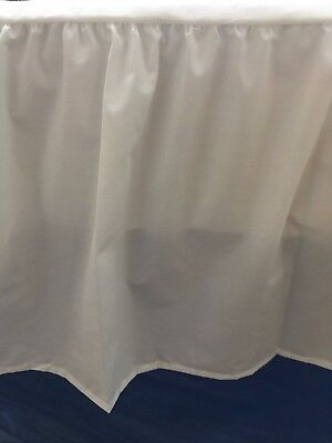 Valance Sheet   White / Ivory/single/4Ft Special/double/king/super King