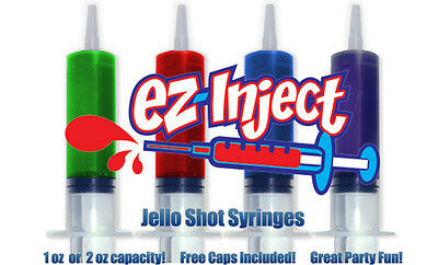 Ez Inject Jello Party Shot Syringes 44ml Pack of 25
