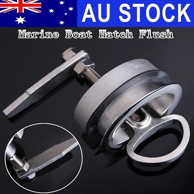 AU 61mm Stainless Steel Marine Boat Hatch Flush Pull Latch Handle NON Locking