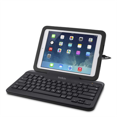 Belkin Wired Tablet Keyboard with Stand for Ipad Tablets with Lighting Connector