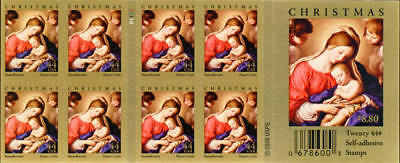 2009 44c Madonna & Child, Hearst Castle, Booklet of 20 Scott 4424 Mint F/VF NH