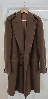 British Warm Army Heavy Coat Gieves London Greatcoat Military Re-enactment