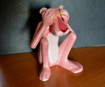 Rare Collectable Pink Panther Pantera Rosa United Artists RO Japan 1982 Ceramic
