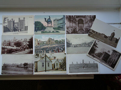11 x  EARLY  MILITARY  BARRACKS ETC POSTCARDS VERY GOOD / MINT CONDITION