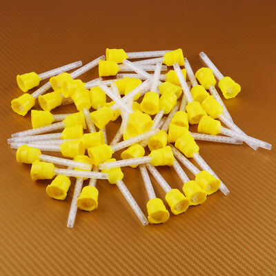 50x 70mm Disposable Dental Impression Mixing Tip 3.5mm Silicone Rubber 1:1