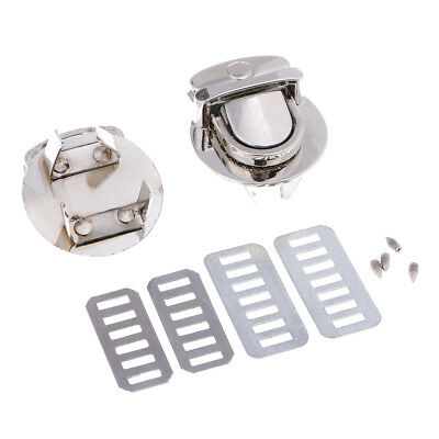 Bag Closure Catch Tuck Lock Clasp Fasteners for LeatherCraft Silver Round