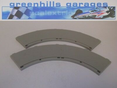 Greenhills Scalextric Sport Track Long 90 degree Curve Inner Borders x 2 Grey...