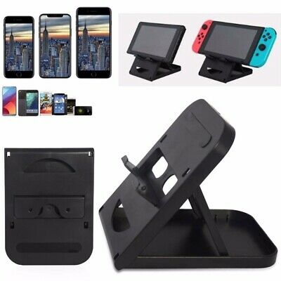 Adjustable Folding Bracket Stand Holder Mount For Nintendo Switch Console Black