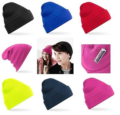 485ec90c7 BEECHFIELD BOYS GIRLS Junior Pom Pom Bobble Beanie Hat Knit Winter ...