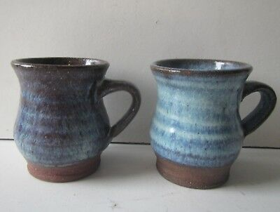 2 Vintage Studio Pottery Mugs