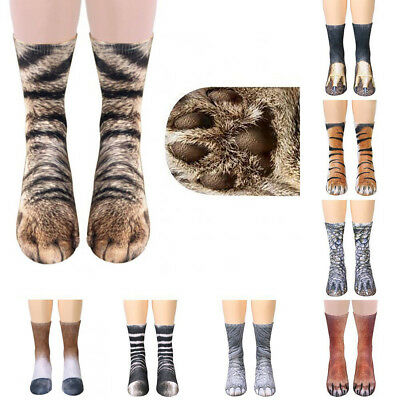 Unisex Fashion Elastic Soft Breathable 3D Printed Animal Foot Claw Hoof Paw Sock