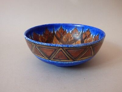 Rare Art Deco Clews & Co Chameleon Flower Leaf Tunstall Pottery Bowl Free Uk P+P