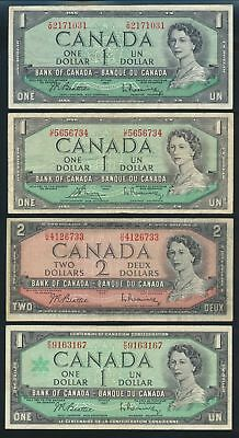 "Canada: 1961-86 $1 & $2 COLLECTION OF 11 DIFFERENT ""QEII PORTRAIT"""
