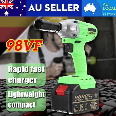 Torque 520Nm 98V Cordless Motor Electric Brushless Impact Wrench Charger Battery