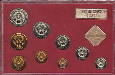 Russia 1987 (9) Coin P/L Set